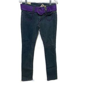 Apollo  NWT 5/6 women's distressed skinny jeans